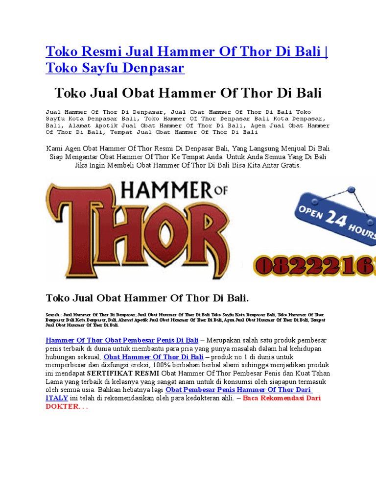 toko resmi jual hammer of thor di bali 082221616707