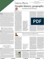 Mahfuz Anam Despite History and GeographyIndia-Bangladesh Ties The Indian Express January 5, 2017
