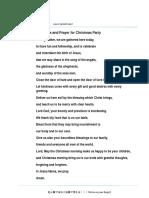 Christmas Party Prayer