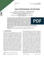 (2013)Electronic Properties of GaN Nanotube