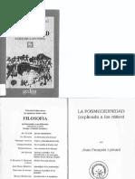 Lyotard Jean-Francois - La Posmodernidad (Explicada a Los Niños)