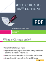 Chicago Style PowerPoint Presentation for Website