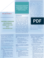 National Workshop on Hydrogen Energy and Fuel Cells Brochure