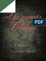 Les Carnets d'Ambria _Volume 1-23-02-2017