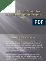 Australia Team Squad for Cricket Champions Trophy 2017