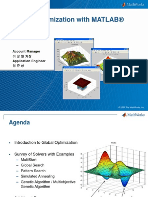 Global Optimization with MATLAB Products(Draft)_MathWorks