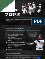 Baseball in Japan - polish presentation