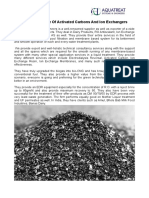 Superior Quality Of Activated Carbons And Ion Exchangers