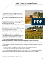 Contract Farming in India Oppurtunities and Issues