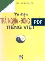 Từ Điển Đồng Nghĩa - Trái Nghĩa Tiếng Việt - Dương Kì Đức