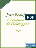 Al Encuentro de Heidegger - Jean Beaufret
