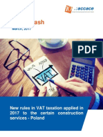 New rules in VAT taxation applied in 2017 to the certain construction services in Poland