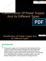 Classification of Power Supply and Its Different Types