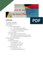 Curso de Iniciação Ao Access Basic (I) CONTEÚDOS