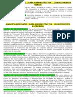 Analista Judiciário Trf 1 - Conteúdo Programático