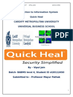 Quick Heal Technology used in Information System