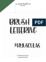 BrushLettering Mayusc