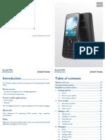 Alcatel 2007d Gb User Manual