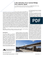 Model Updating for the Selection of an Ancient Bridge Retrofitting Method in Almeria, Spain