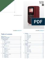 Alcatel One Touch 1010 1010d User Manua
