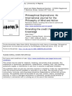 Philosophical Explorations Volume 15 Issue 2 2012 [Doi 10.1080%2F13869795.2012.670720] Green, Adam -- Extending the Credit Theory of Knowledge