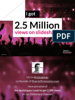 How I Got 2.5 Million Views on Slideshare