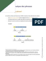 Analyse Des Phrases