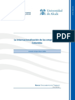 Internacionalizacion de Las Empresas en Colombia (Hasta La Pagina 33)