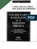 Vocabulario razonado de la exégesis bíblica - Aletti, Gilbert, Ska, Vulpilleres