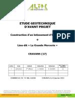 Etude Geotechnique d'Avant Projet