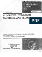 Toxicological Profile for Fluorides