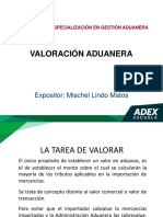 Valoración Aduanera ADEX