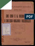 Alfredo Rocco, Che Cosa e Il Nazionalismo e Che Cosa Vogliono i Nazionalisti