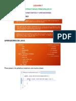 Lección 7 y 8 (Constantes, Operadores, Concatenación y Declaraciones)