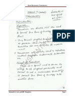 VTU 1st year basic electronics Transducer notes PDF