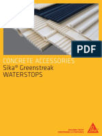 Sika Greenstreak Waterstops Brochure Eng
