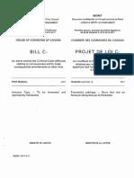 Canada marijuana legalization bill