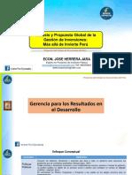 Presentación PPT - Análisis y Propuesta Global de La Gestión de Inversiones - Más Allá de Invierte Perú