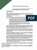 Resolución Administrativa Nº 858-2010-P-CSJCU-PJ