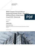 IEEE Computer Society/Software Engineering Institute Watts S. Humphrey Software Process Achievement (SPA) Award 2016