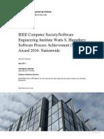 IEEE Computer Society/Software Engineering Institute Watts S. Humphrey Software Process Achievement (SPA) Award 2016