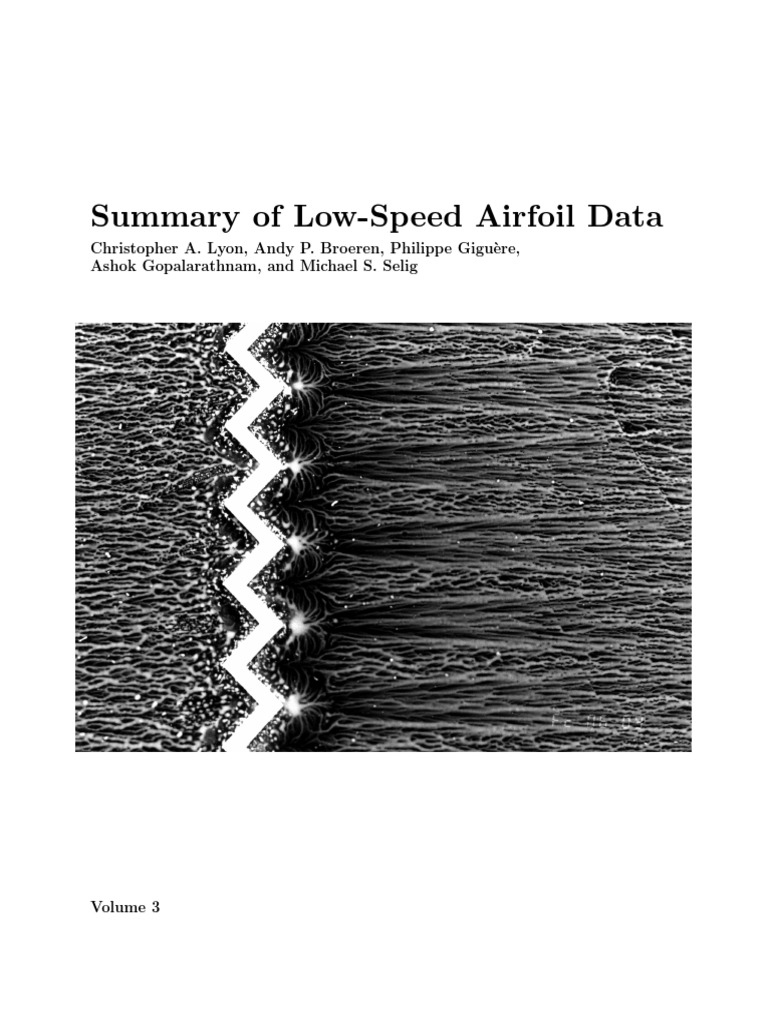 Low Speed Airfoil Data V3 | Drag (Physics) | Lift (Force)