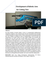 Design and Development of Robotic Arm for Cutting Tree