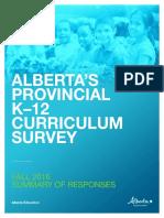 Provincial survey on Alberta curriculum