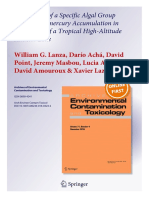 Association of a Specific Algal Group With Methylmercury Accumulation in Periphyton of a Tropical High-Altitude Andean Lake