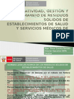 Asistencia Tecnica Residuos Hospitalarios 2016