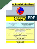 EXERCÍCIOS DE FATORAÇÃO