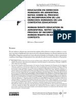 Educ DDHH Argentina
