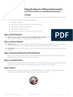 Peace Corps Report of Physical Examination - Guide  |   Att 19 Report of Physical Examination
