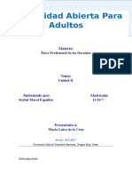 Ética Profesional de Los Docentes. Tarea II